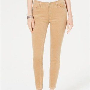 Tommy Hilfiger Womens Corduroy Skinny Pants Ankle